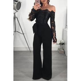Jumpuit Negro Encaje Elegante Love For Glamour