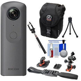 Ricoh Tetha V Camera Digital 360 4k Com Kit De Brinde