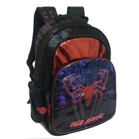 Mochila Infantil Juvenil Meninos Aranha Spider De Costas