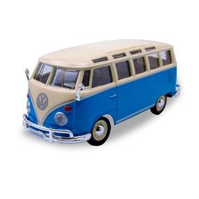 Auto A Escala Maisto 1:25 Volkswagen Van Samba Azul Pc