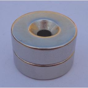 1b000137f83 Imã Redondo Furado (anel De Imã) - Imã de Neodímio para Artesanato ...