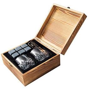 Set Regalo Piedras Whisky - 6 Granito Natural Único Mejor W