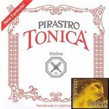 Cordas De Violino Tonica New Formula C/ Mi Evah Pirazzi Gold