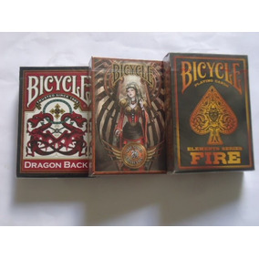 3 Baralhos Bicycle - Dragon Back + Steampunks + Fire