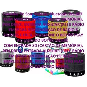 Caixa De Som Portátil Com Speaker Bluetooth Ws-887