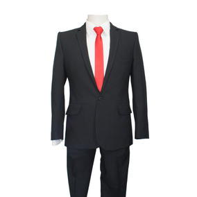 d8c28433c2bc7 Traje Slim Fit Hombre Negro - Vestuario y Calzado en Mercado Libre Chile