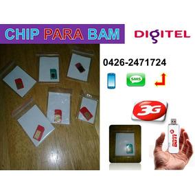 Chip Digitel Para Bam 3g Y Telefonos Moviles