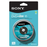 Pack De 10 Paquetes De 8cm Dvd Plus Rw Spindle Skin De Sony