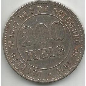 Egoto-v 016-moeda 200 Réis 1871 Cupro-níquel Império