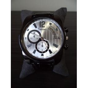 Relógio Masculino Pulseira De Couro