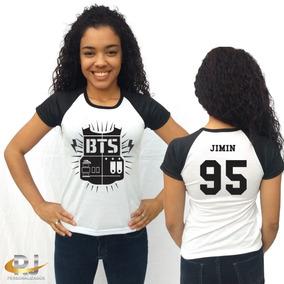 Camisa Camiseta Feminina Bangtan Boys Bts Jimin 95 +brinde
