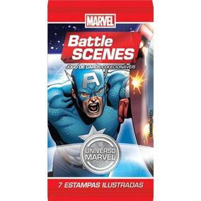 Marvel Battle Scenes Universo Marvel 10 Pacotes 70 Cards