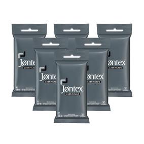 Kit Jontex Preservativo Lubrificado C/12 - 6 Unid