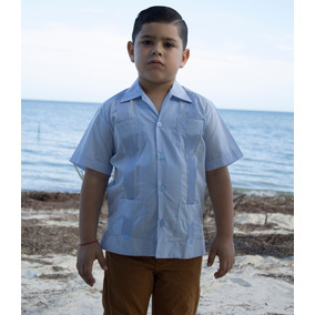 Guayabera Yucateca Para Niño Daniel 100% Algodón