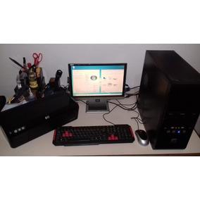 Computador Desktop Com Tela(completo)+impressora Grátis!