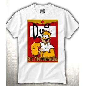 Duff Homero Beer Simpson Hombre Rott Wear Envío Gratis
