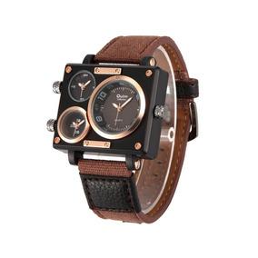 2d7cb800202 Relógio Militar Oulm Masculino Pulseira Em Couro T238 - Relógios De ...