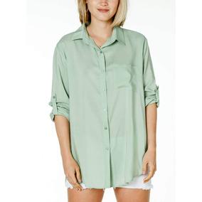 444e69398c87a Camisas Mujer - Camisas Manga Larga de Mujer Verde claro en Mercado ...