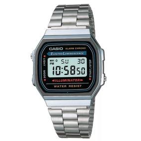 e40f37f70ad Relogio Casio A168wa 1 Preto Unissex Retrô Vintage Alarm Luz ...