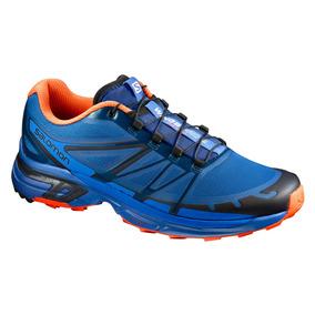Tenis Hombre Trail Running Salomon Correr Azul Wings Pro 2