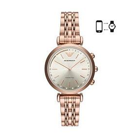 d258a96fc18e Emporio Armani Reloj Analogico De Cuarzo Rosado Dorado Con R