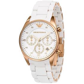 f1e0a55e2dde Reloj Armani Mujer Blanco Joyas Relojes - Relojes Pulsera Armani en ...
