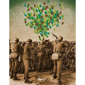 Ricardo Mendes Poster Cartaz Balões Assinado 40x30 Cm 2017