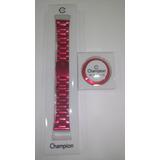 1cb47e613bf Kit Com Pulseira E Aro Aluminio Vermelha Original Champion