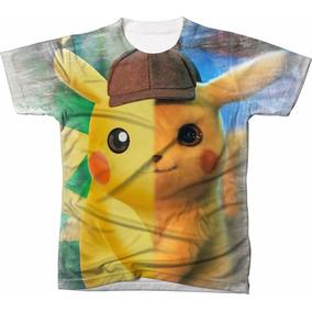 1e8c76ef1 Camisa Camiseta Filme Desenho Pokemon Pikachu Detetive 01