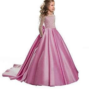 Vestido Elegante Niña Boda Fiesta Graduacion Rosado
