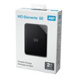 Hd Externo Wd 2tb Portátil 3.0 E 2.0 Preto - Novo Original