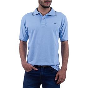 6f660125bb Camisa Polo Colombo Masculina Azul Lisa Upper 29958 por Camisaria Colombo