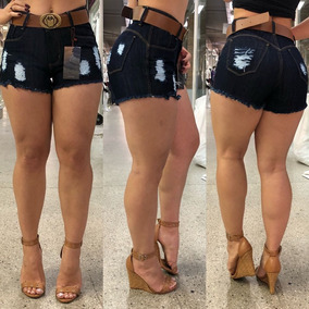 Shorts Jeans Cintura Alta, Num.: 36 E 38