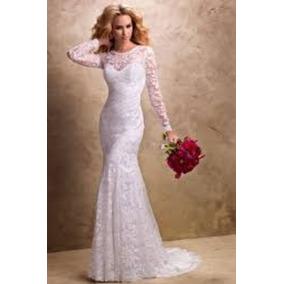 Vestido De Noiva, Casamento, Sereia, Com Bojo E Zíper