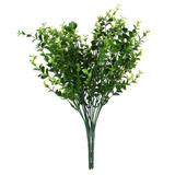 2x Rama Planta Eucalipto Hoja Hierba Artificial Plástico De
