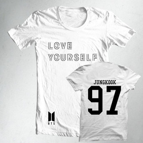34695b80ddf7b Camiseta Ou Baby Look K-pop Bts Love Yourself Jungkook 97