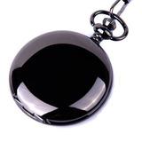 Shoppewatch Reloj De Bolsillo Movimiento De Cuarzo Caja Negr