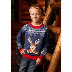 Ugly Sweater Sueter Feo Navidad Navideño Con Luces Niño Reno