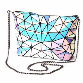 Bolsa Geométrica Holograma Luminosa