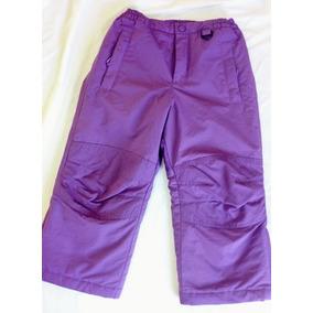 Pantalón Térmico Para Nieve Niña Talla 5 Frio Intenso