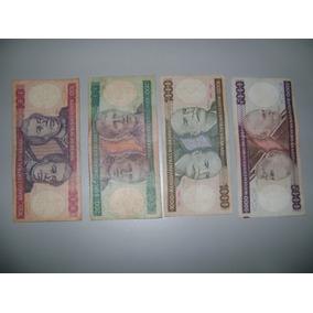 Lote De 4 Células Antigas De Cruzeiro - 100, 200, 1000, 5000