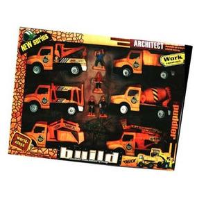 Set De Camiones Construccion Friccion Infantil Chaira 5502