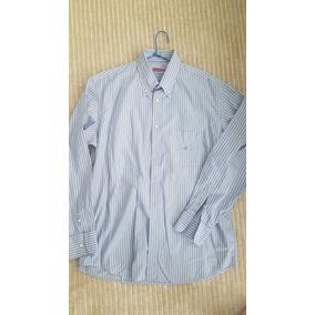 Camisa Azul Listras Brooksfield Concept Como Nova Tamanho 43 7c7190fcea094