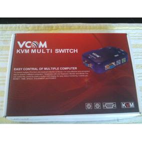 Kvm Switch Ps2 2 Puertos Marca Vcom