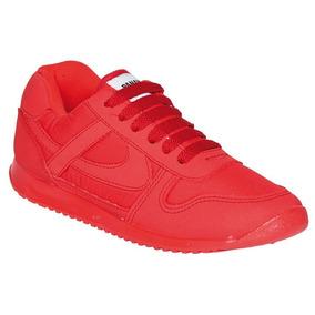 Calzado Tenis Niño Nilña Casual Panam Rojos Comodos Niños