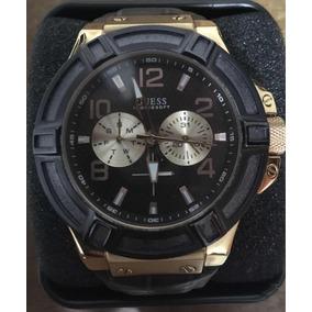 Relógio Guess W0040g3 Pulseira Couro Masculino