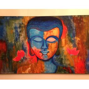 Cuadros Pintados A Mano Acrílico Buda Y Hamsa Envío Gratis