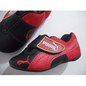 8f17758a1f Tenis Infantil Preto Vermelho Ferrari Puma 23 Usado Bom Esta