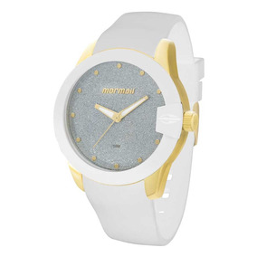 Relógio Mormaii Branco Feminino Mo2035cu/8b