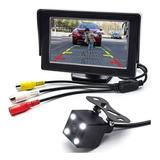 Kit Monitor Y Camara De Reversa A Color Autos Camionetas 12v